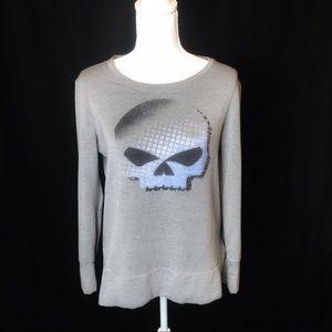 Harley Davidson skull RIDE FREE sweatshirt